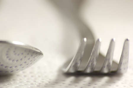 Silver cutlery ready for the Christmas dinner Stock Photo