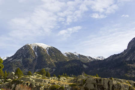 snowcapped: Snow-capped mountain in the Aigüestortes National Park in the Spanish Pyrenees