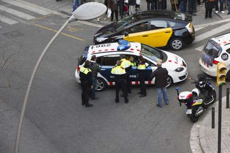 SANTA COLOMA DE GRAMENET, BARCELONA - 19 DE ENERO: Detencion presunto homicida, violencia de genero. 15 de enero de 2012 en Barcelona (España)