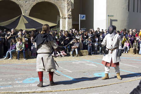 MANRESA, SPAIN - 26 of FEBRUARY: Medieval Fair Manresa. February 26, 2012 in Manresa, Barcelona (Spain) Stock Photo - 12386151