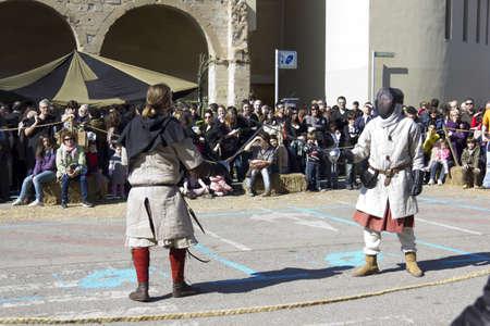 MANRESA, SPAIN - 26 of FEBRUARY: Medieval Fair Manresa. February 26, 2012 in Manresa, Barcelona (Spain) Stock Photo - 12386151
