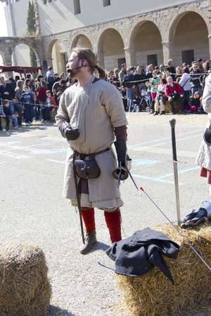 MANRESA, SPAIN - 26 of FEBRUARY: Medieval Fair Manresa. February 26, 2012 in Manresa, Barcelona (Spain)