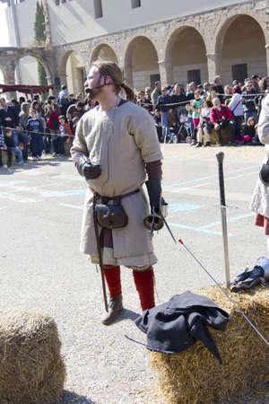 MANRESA, SPAIN - 26 of FEBRUARY: Medieval Fair Manresa. February 26, 2012 in Manresa, Barcelona (Spain)