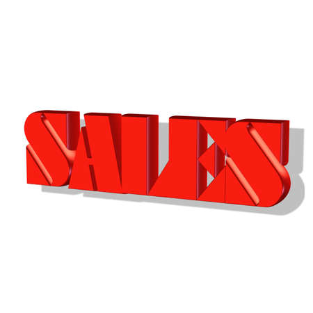 Sales Word 3D isolated on white background photo