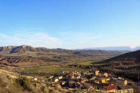 An old stone village between the mountains and blue sky Stock Photo - 12844411