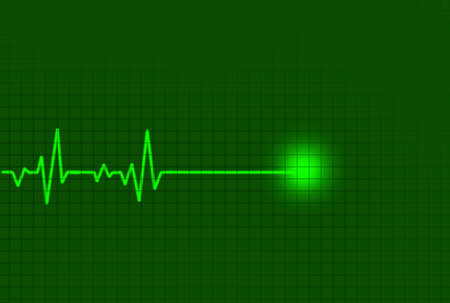 Abstract heart beats cardiogram for you design photo
