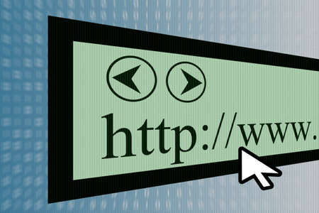 internet browser showing a www communication concept Stock Photo - 13001770