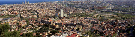 Panoramic view of the city of Barcelona photo