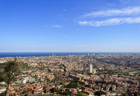 Spectacular panoramic view of the city of Barcelona photo