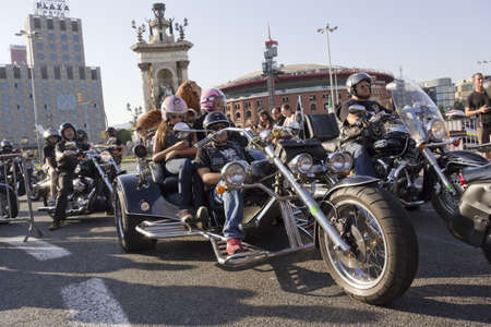 BARCELONA, SPAIN - JULY 7: Barcelona Harley Days 2012. July 7, 2012 in Barcelona, Spain.