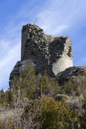 Ruined medieval watchtower, built in the highest mountain, served to spot the enemy Stock Photo - 16417700
