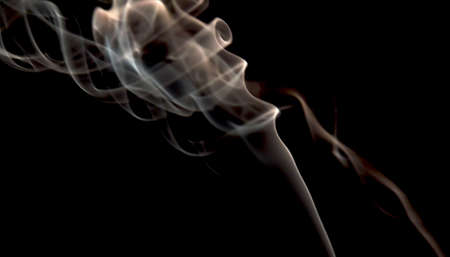 Smoke on black Stock Photo - 16417775