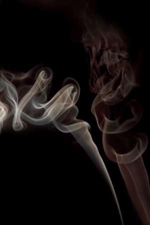 Smoke on black Stock Photo - 16417780