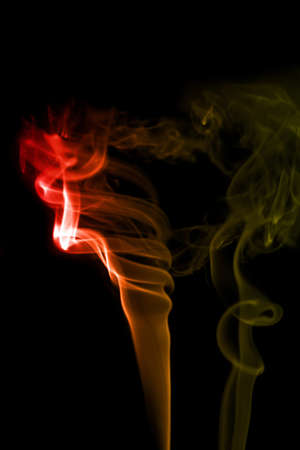 Smoke on black Stock Photo - 16417776