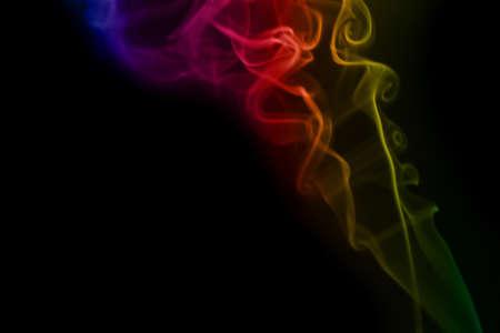 Smoke on black Stock Photo - 16417761