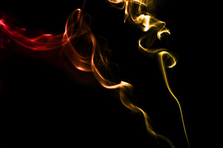 Smoke on black Stock Photo - 16417763