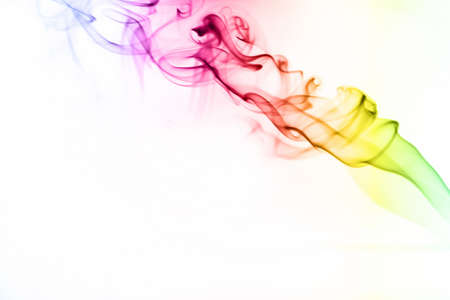Smoke on white Stock Photo - 16417782