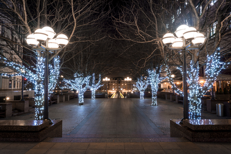 Christmas has arrived to this square in Canary Wharf
