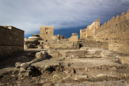 Ruins of Alcazaba in Almeria Spain