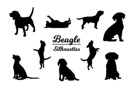 Beagle dog silhouettes
