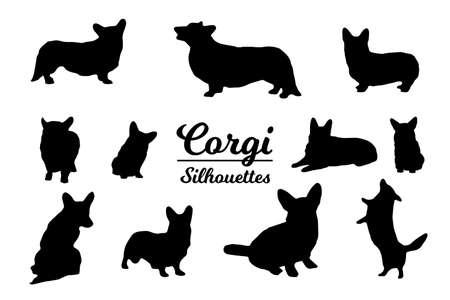 Corgi dog silhouettes