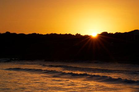 Seascape at sunset, Ibiza, Spain, Europe