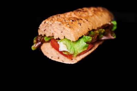vegetable snack, lettuce, tomatto, egg and ham york