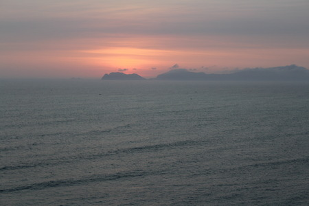 isidro: Sunset Lima Stock Photo