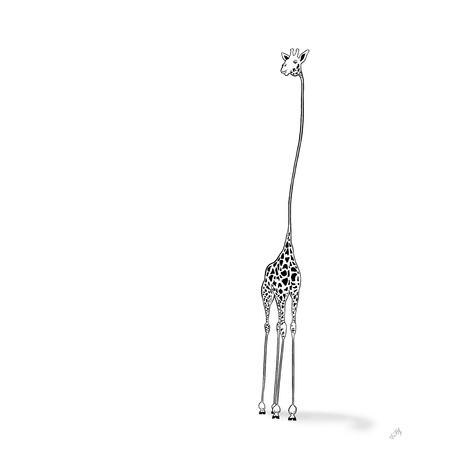 Stylized Giraffe Illustration