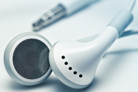 white earphones with the jack Editorial