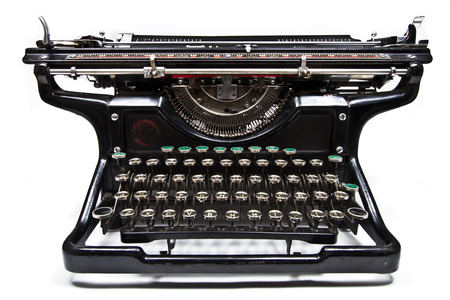 underwood: Antique manual Underwood typewriter on white