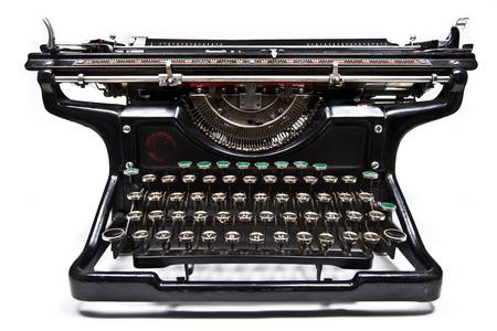 Antique manual Underwood typewriter on white