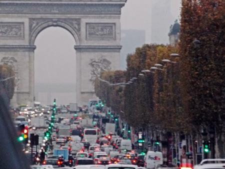 gridlock: Arch of Triumph, fantastic view, París, Francia