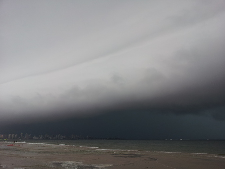 storm coming: Beautiful and dangerous storm coming to the beach