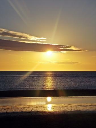 beautiful sunset landscape punta del este uruguay