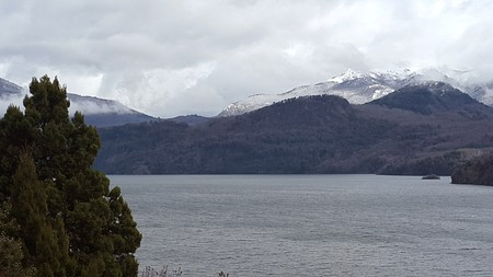fantastic landscape in southern Argentina,  seven lakes photo