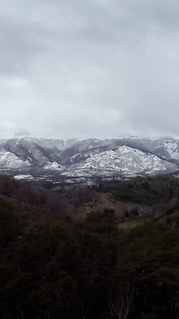 mountain landscape in southern Argentina photo
