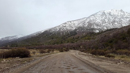 rural road in mountain area photo