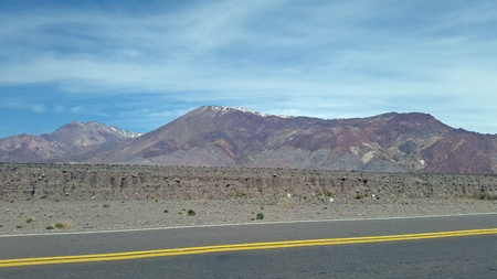 lenticular: high mountain road in the Andes Mountains. in southern Argentina, america