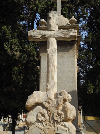 cartagena: marble cross cemetery Cartagena