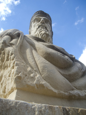 murcia: Asdrubal, founder of Cartagena, Murcia, Spain in park towers Stock Photo