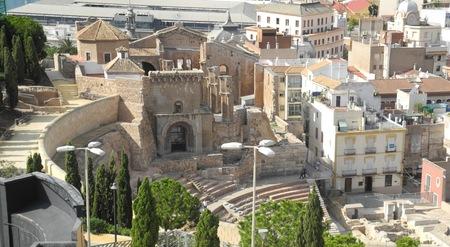 cartagena: Teatro Romano Cartagena, Spain Stock Photo