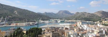 cartagena: panoramic port in Cartagena, Murcia, Spain
