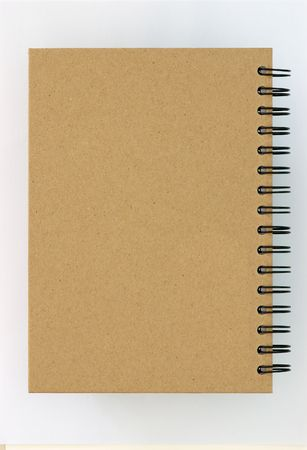 Recycle paper notebook back cover on white background Stock Photo - 8140427