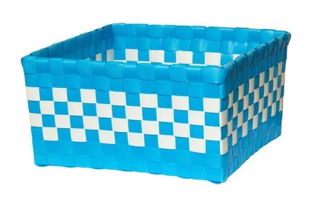 woven plastic basket photo