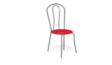 chair with red seat on the white background Illustration