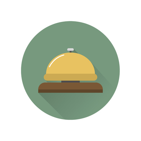 Bell icon in flat style, web icon, isolated