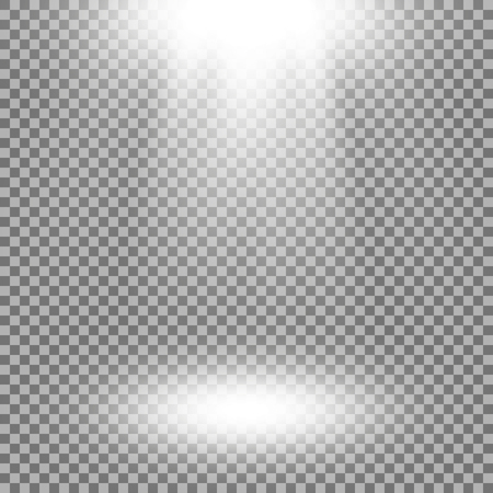 Vector spotlight, light effects. isolated on transparent background, white color