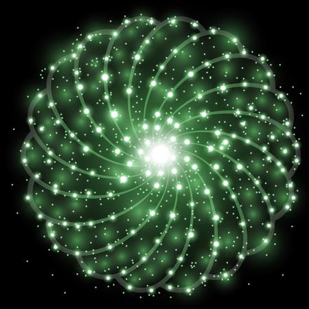 黒い背景に星の塵を持つ輝く星