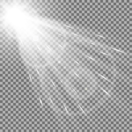 Vector spotlight, light effects. isolated on transparent background, light effect, white color